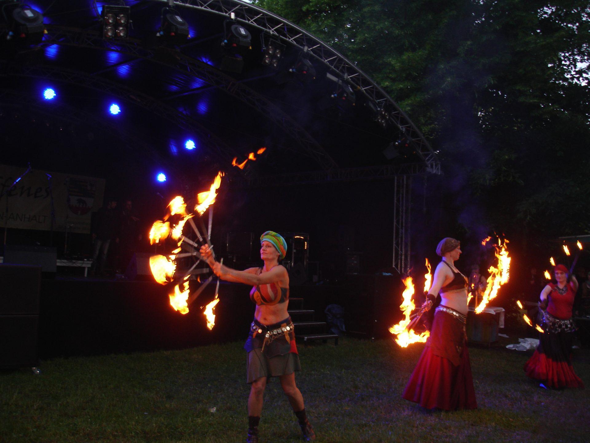 Feuershow Gruppe